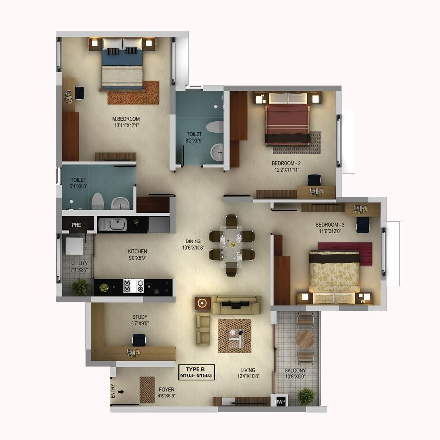 Pin By Home Planner On Godrej Eternity Floor Plan