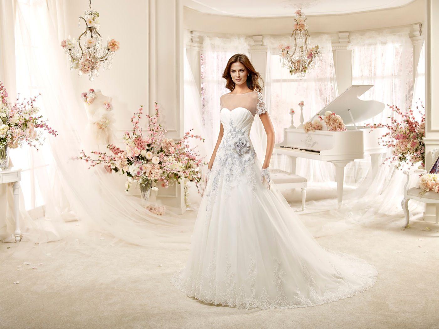 Shruthi In A Dreamy One Shoulder Pronovias Dress: #wedding #weddingdress #2016 #collection #bride #bridal