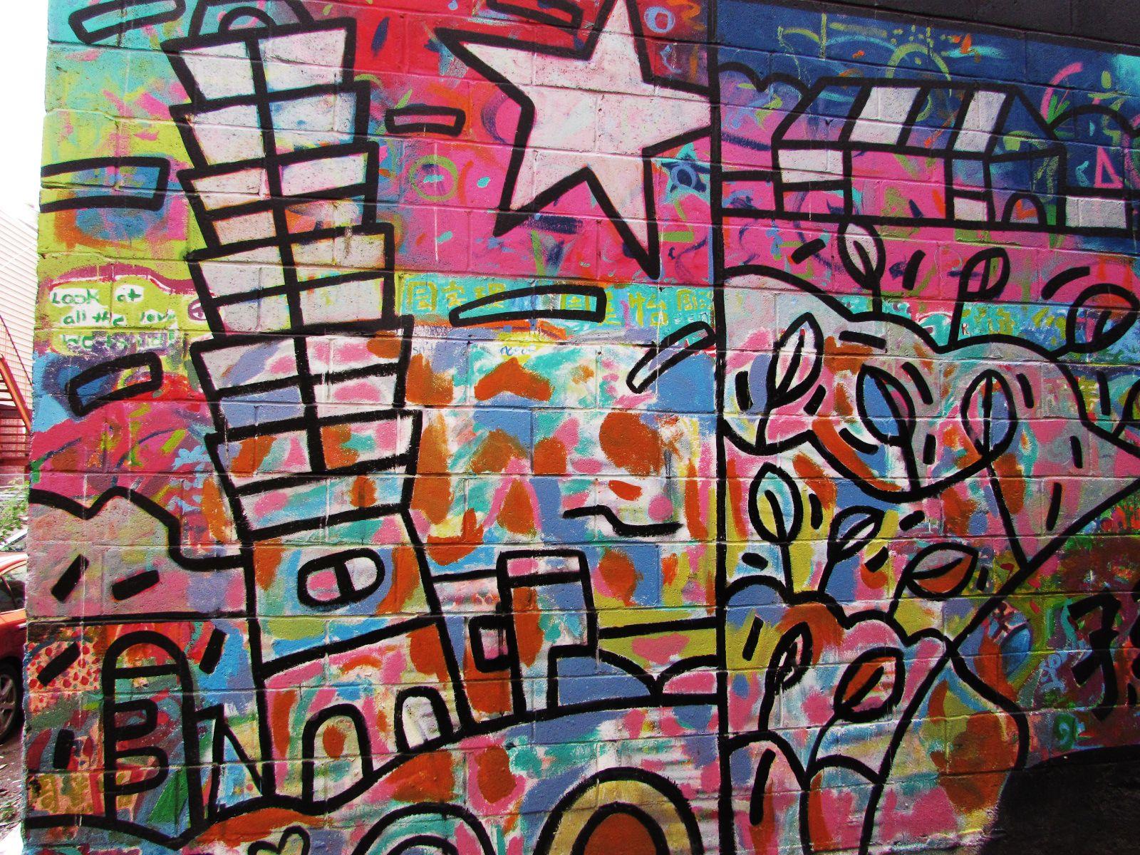 Graffiti wall calgary - Laneway Graffiti In Chinatown Celebrating Chinese Heritage