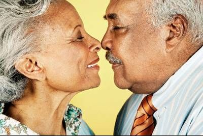 Super Cute 3 Oldercouple Oldage Love Kiss African American