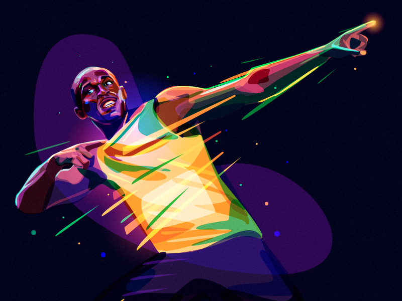 Weekly Inspiration For Designers 117 Usain Bolt Anime Scenery Wallpaper Bolt