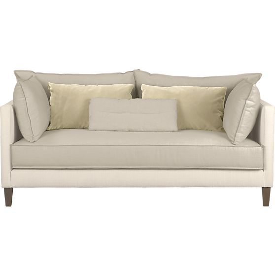 Asana Apartment Sofa In Sofas Crate And Barrel Bedroom Sitting