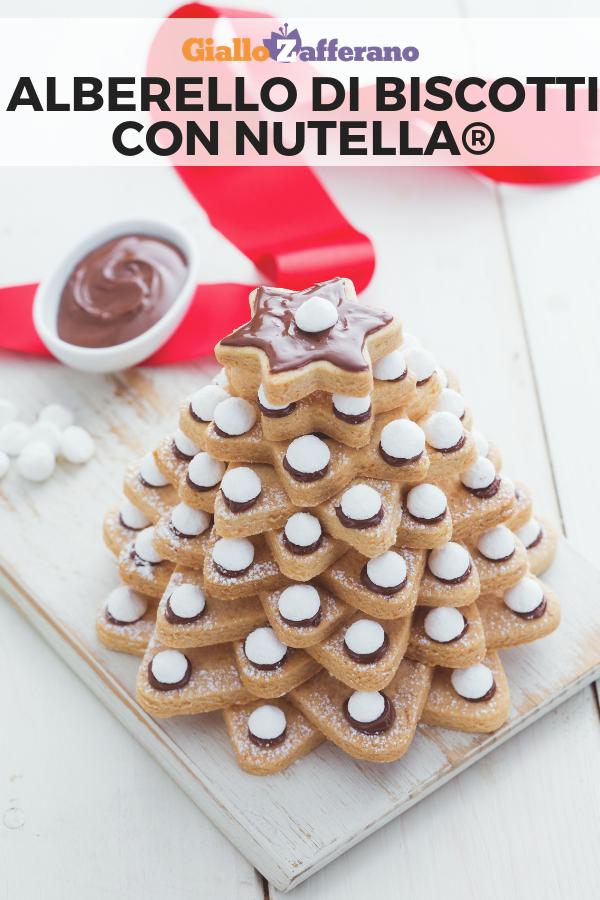Biscotti Di Natale Ricette Giallo Zafferano.Alberello Di Biscotti E Nutella