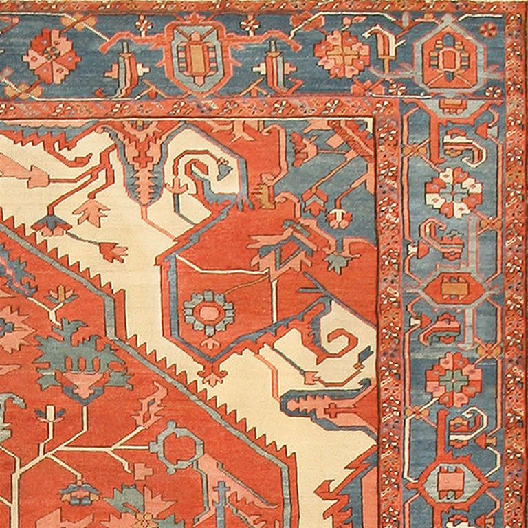 Antique Heriz Serapi Rug