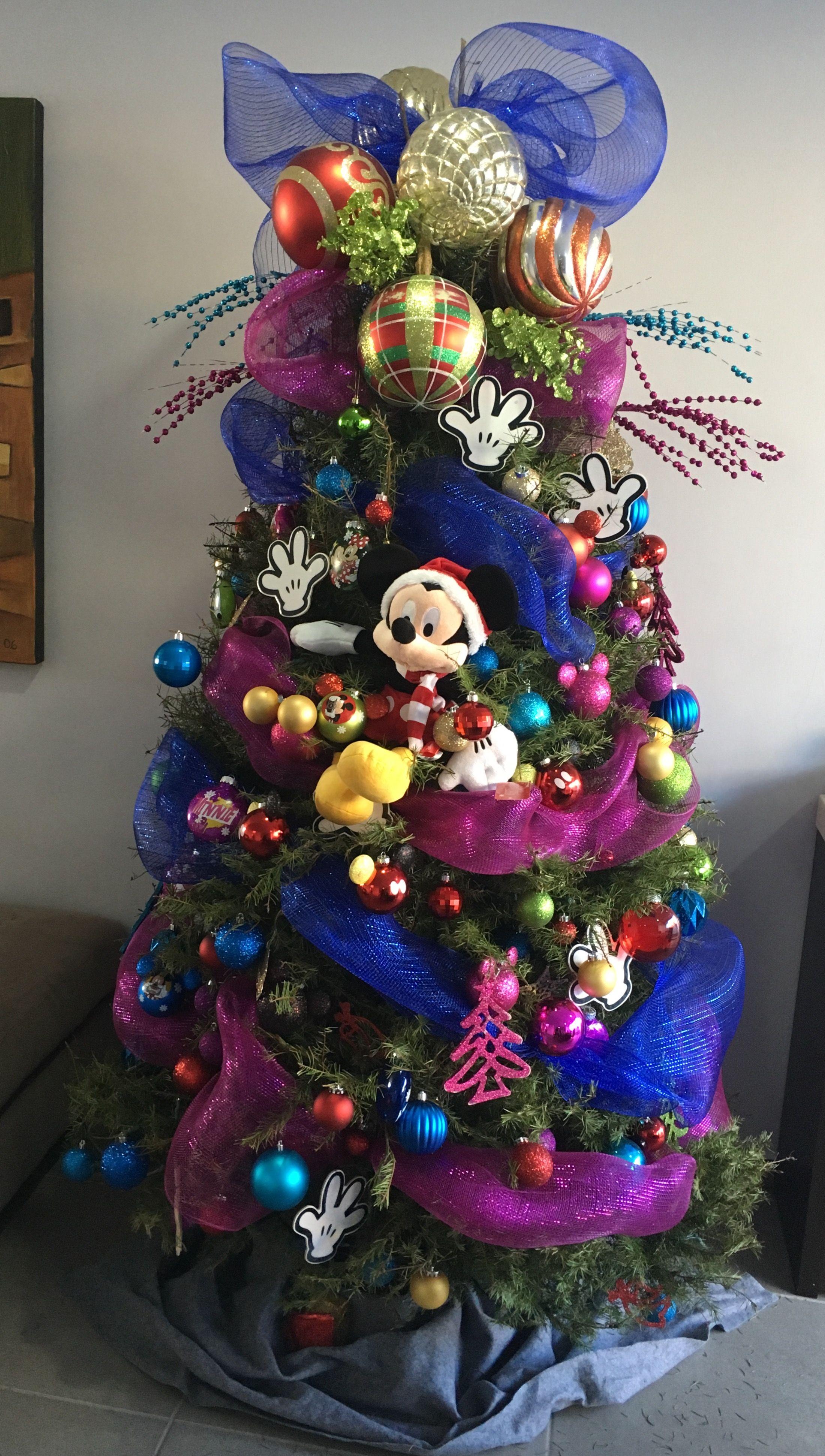 Mickey mouse rbol navidad cosas de decoraci n - Arboles de navidad de chuches ...