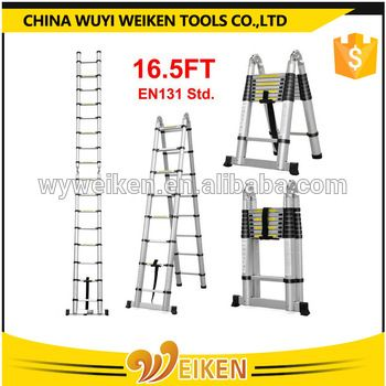 Wuyi 2 5m 2 5m 5 0m Double Side Telescopic Extension Ladder Telescopic Ladder Ladder Telescope