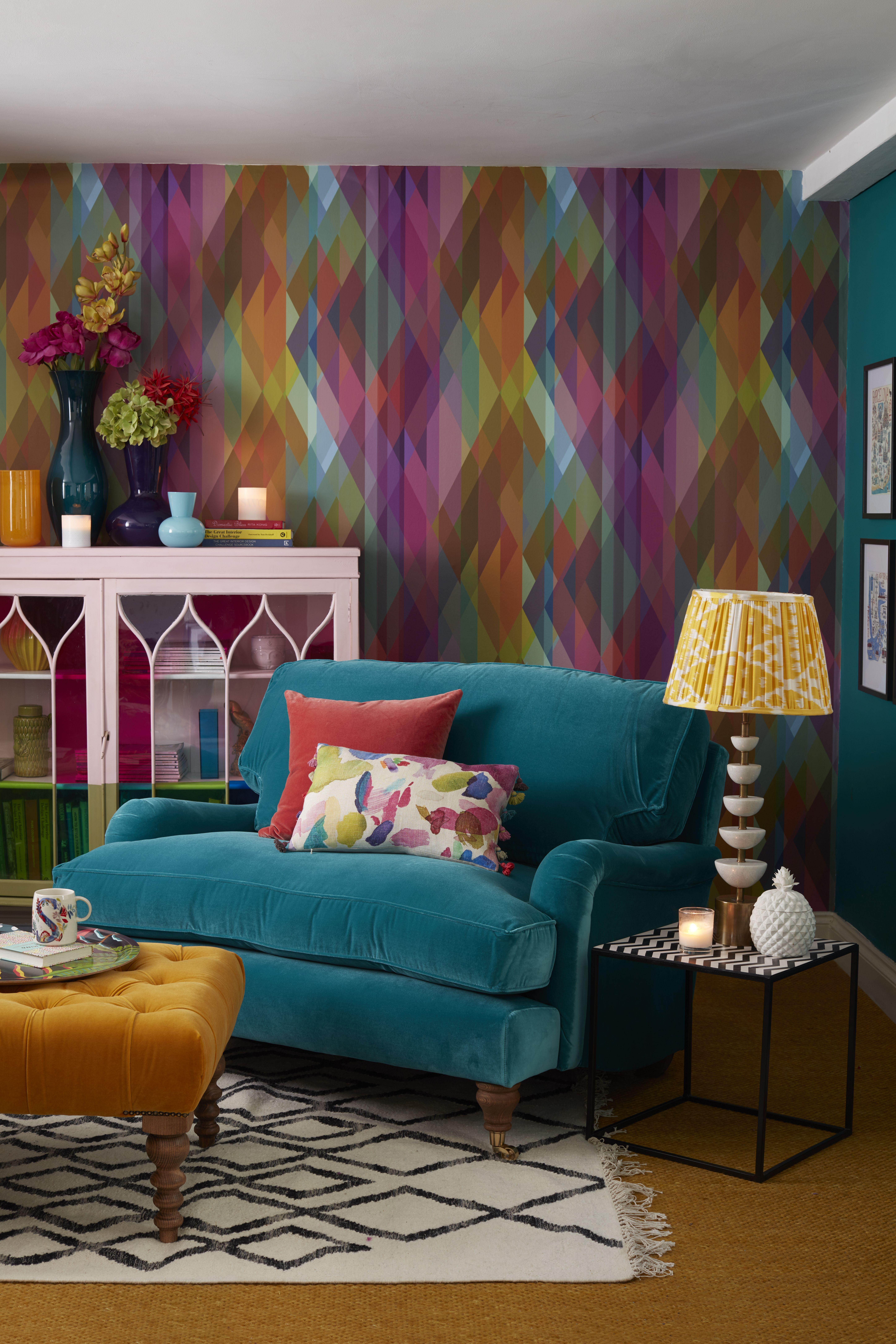 Bluebell Loveseat In Amazon Cotton Matt Velvet Teal Sofa Living Room Wallpaper Living Room Teal Living Rooms #teal #sofa #living #room #ideas
