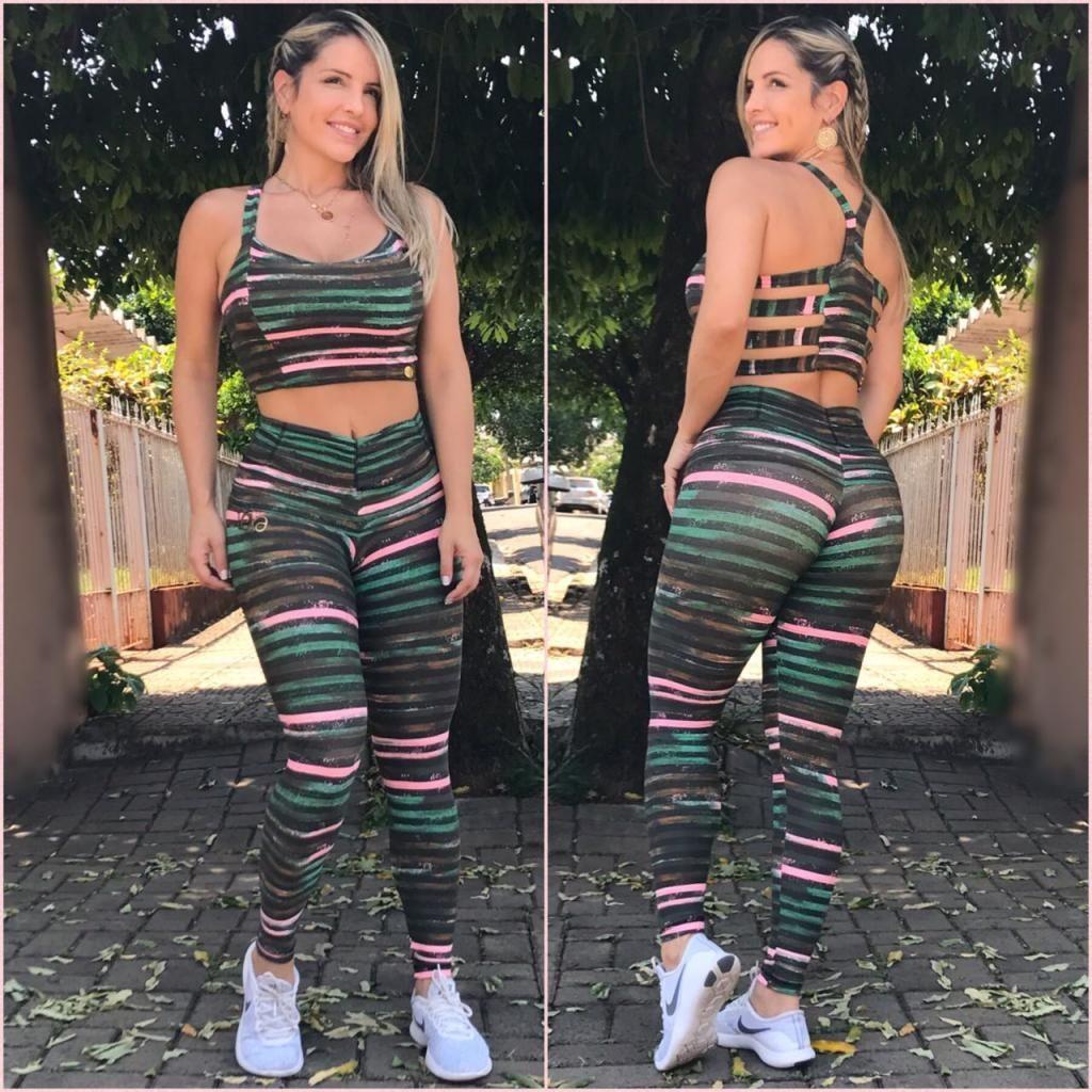 1bfecf298 Conjunto Mila Ca7 Militar | Conjunto | Pants, Workout wear e Yoga Pants