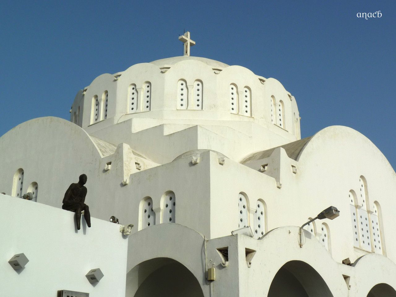 Cathedral, Thera, Santorini, Greece