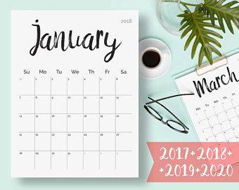printable 2018 wall calendar