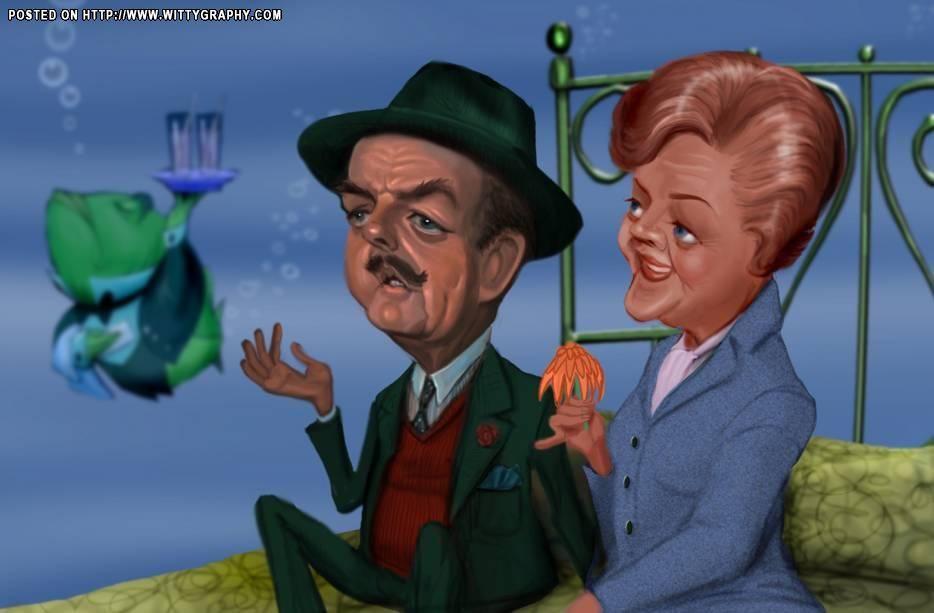 Bedknobs & Broomsticks (David Tomlinson & Angela Lansbury (by Bob Doucette)