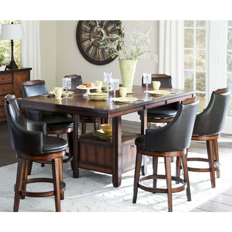 Comedor alto con 6 Bancos Giratorios. Moderno para un hogar moderno ...