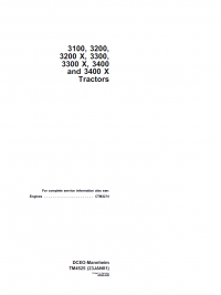 Repair manual john deere 3100 3200 3200x 3300 3300x 3400 3400x repair manual john deere 3100 3200 3200x 3300 3300x 3400 3400x tractors technical manual tm4525 pdf fandeluxe Image collections