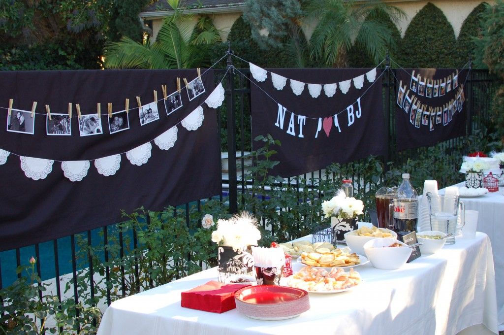 Outdoor Wedding Shower Ideas Part - 23: I Like The Sign And The Pictures! Red Bridal ShowersOutdoor ...