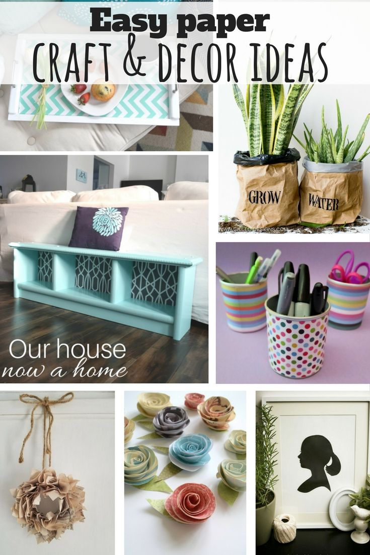 Creative Craft And Decor Ideas Using Paper Our House Now A Home Cheap Diy Crafts Paper Crafts Diy Crafts