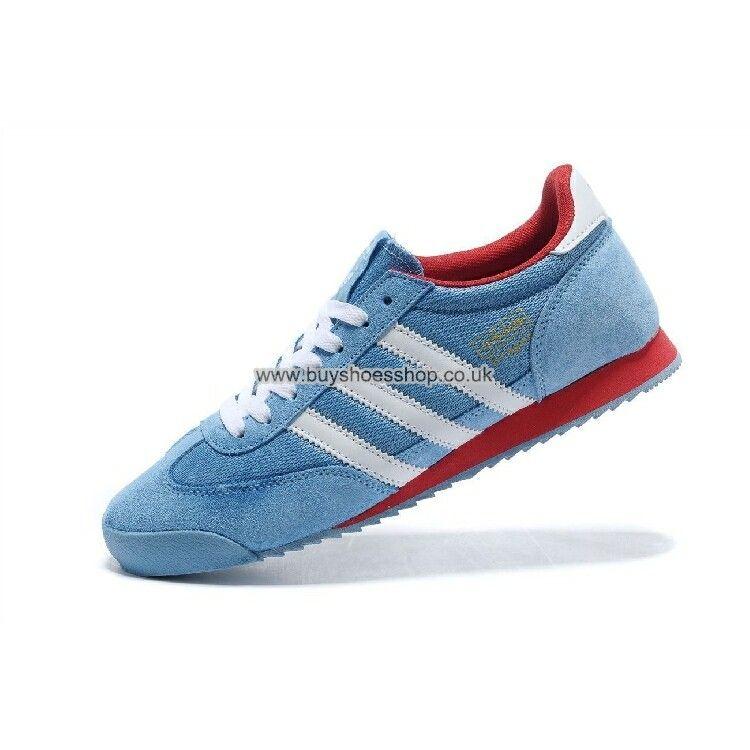 New Adidas Originals Dragon Men Women Blue/White/Red G43676 Shoes ...