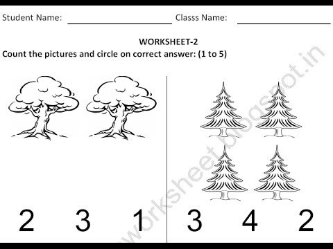 Free Printable worksheets for EVS Nursery children