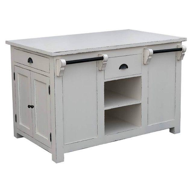 Landhaus Kücheninsel weiß - Kücheninseln - Küchenmodule - Küche ...