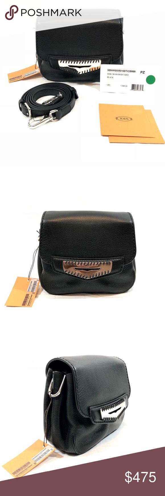 c80808fdf43 Tod's Mini Mask Black Leather Crossbody Bag NWT Tod's Mini Mask Leather Crossbody  Bag Retail Price