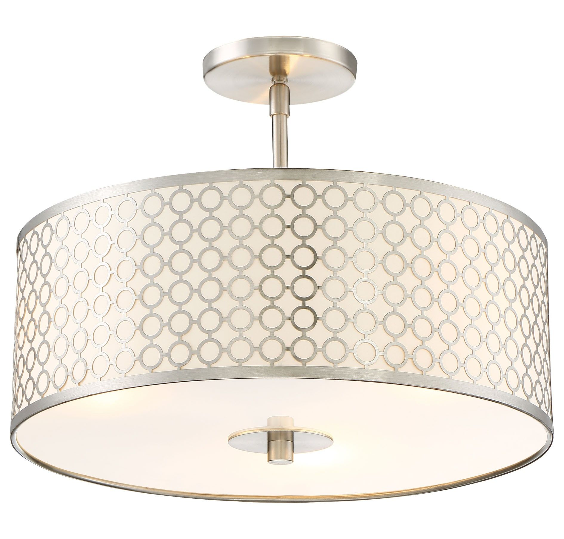 George Kovacs Dots 3 Light Semi Flush in Brushed Nickel