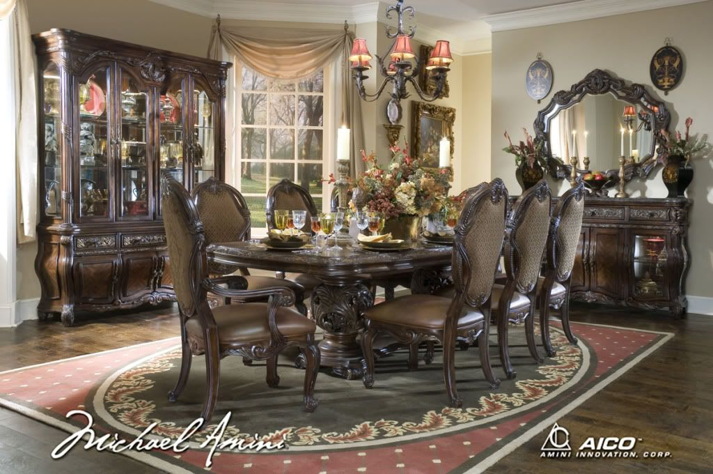 Esmanor Luxury 11 Pc Formal Dining Room Set W China Cabinet Fair Old Fashioned Dining Room Sets Design Inspiration