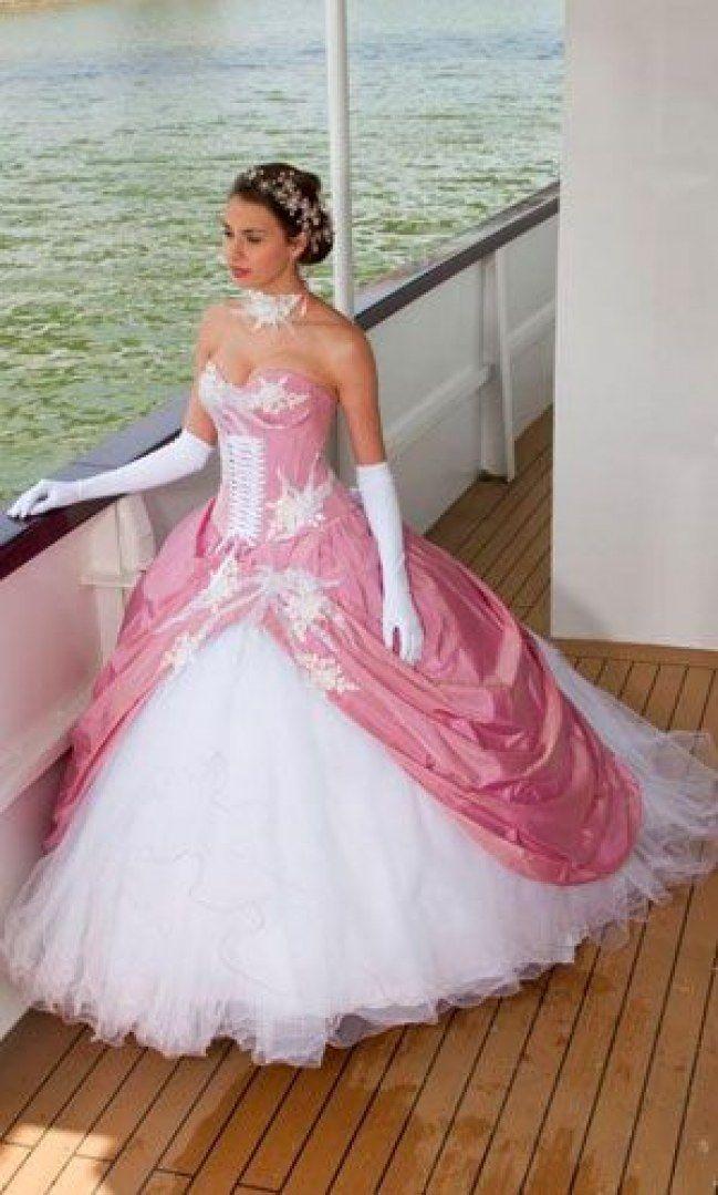 Quand pinterest te prouve que tu peux porter du rose   Robes de mariée / Look mariage   Robe ...