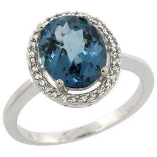https://ariani-shop.com/sterling-silver-diamond-halo-natural-london-blue-topaz-ring-oval-10x8-mm-1-2-inch-wide-sizes-5-10 Sterling Silver Diamond Halo Natural London Blue Topaz Ring Oval 10X8 mm, 1/2 inch wide, sizes 5-10