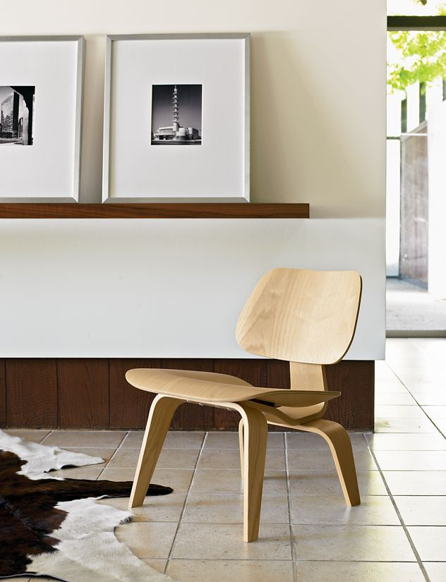 Eames® Molded Plywood Lounge Chair, LCW   Design Within Reach