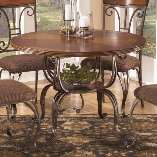 Signature Design by Ashley Plentywood Round Dining Table Bronze