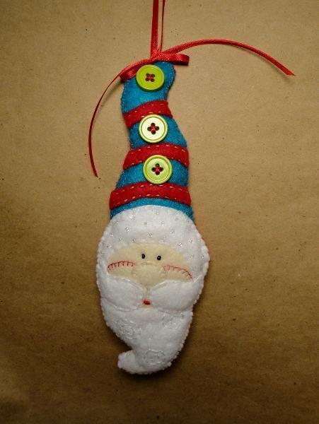 Santa in a tall hat
