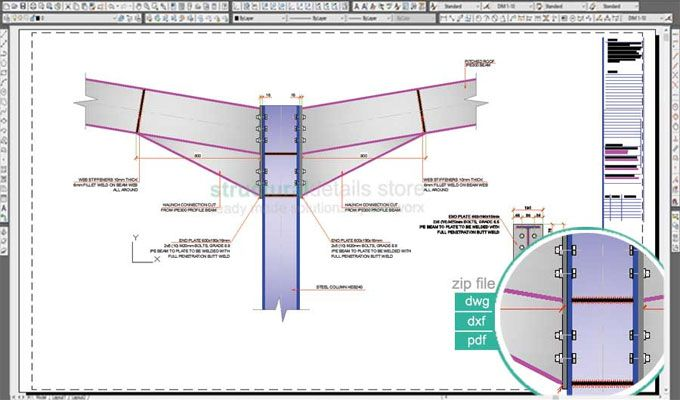 Download sample CAD dwg drawings intended for a Double Span