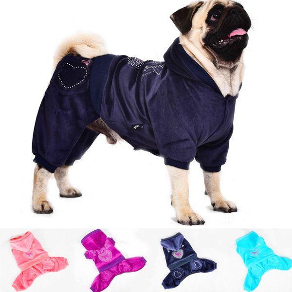 Soft Pink Sport Wear Four Feet Dog Hoodies Pet Warm Clothes Large Dog Coats Dog Coats Pet Boutique