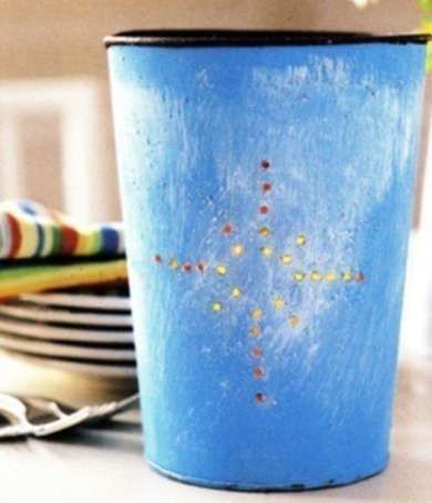 Sap Bucket Luminaries .. could do this with tin cans and solar lights