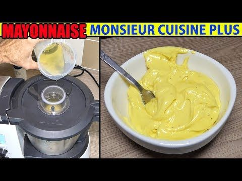 recette mayonnaise monsieur cuisine plus thermomix maison mayonesa maionese recipe