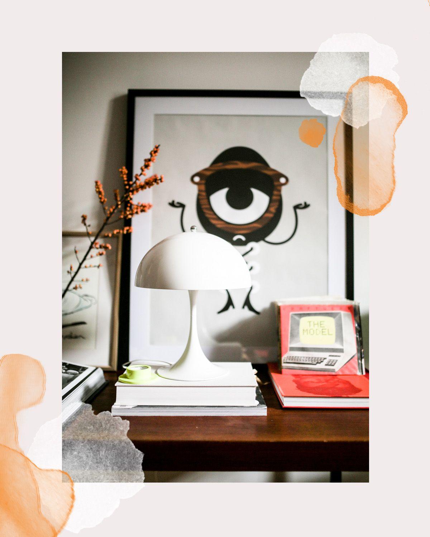 herzst ck panthella mini tischleuchte von louis poulsen. Black Bedroom Furniture Sets. Home Design Ideas