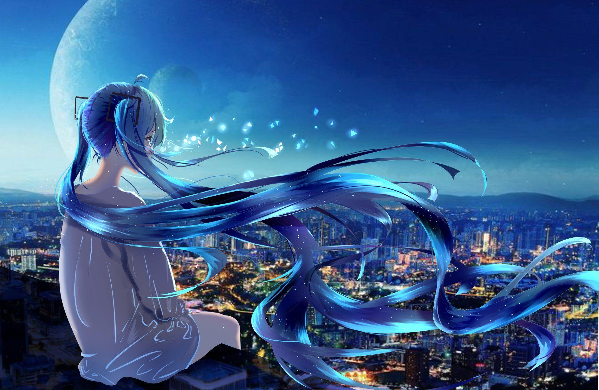 Anime Vocaloid Hatsune Miku Girl Long Hair Blue Hair Wallpaper Anime Wallpaper 1920x1080 Blue Anime Anime Wallpaper Iphone Anime vocaloid wallpaper hd