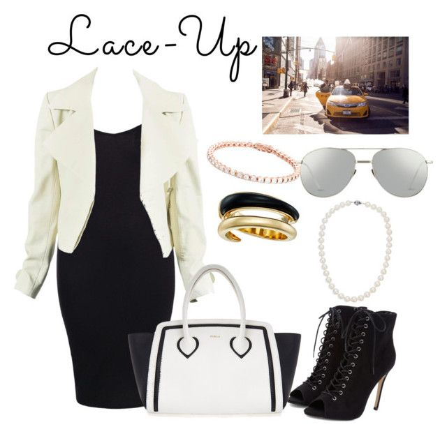 """""""Lace up: Street Style nfyw"""" by threecheersforsweetfrerard ❤ liked on Polyvore featuring Boohoo, Furla, Michael Kors, Linda Farrow and Blue Nile"""