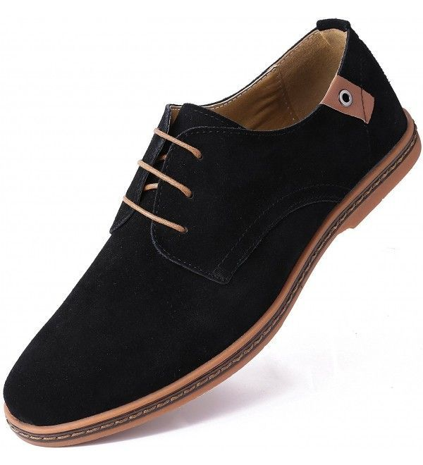 Mens Shoes Oxfords Marino Suede Oxford Dress Shoes for Men  Business Casual Shoes  Classic Tuxedo Mens Shoes  Black  CO12O7SPY6P