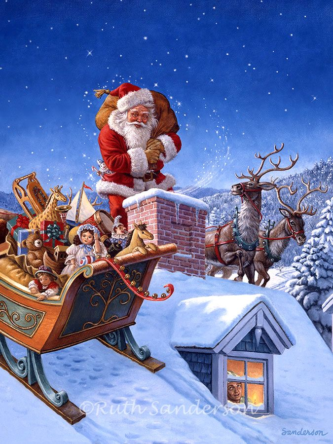 A Sleigh Full of Toys by Ruth Sanderson ~ Santa | Christmas ~ Other ...