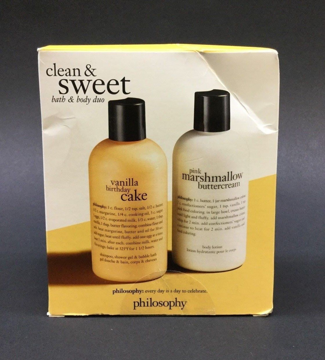 Happy Birthday Cakes Body Washes And Shower Gels 31754 Philosophy Clean Sweet Bath Duo