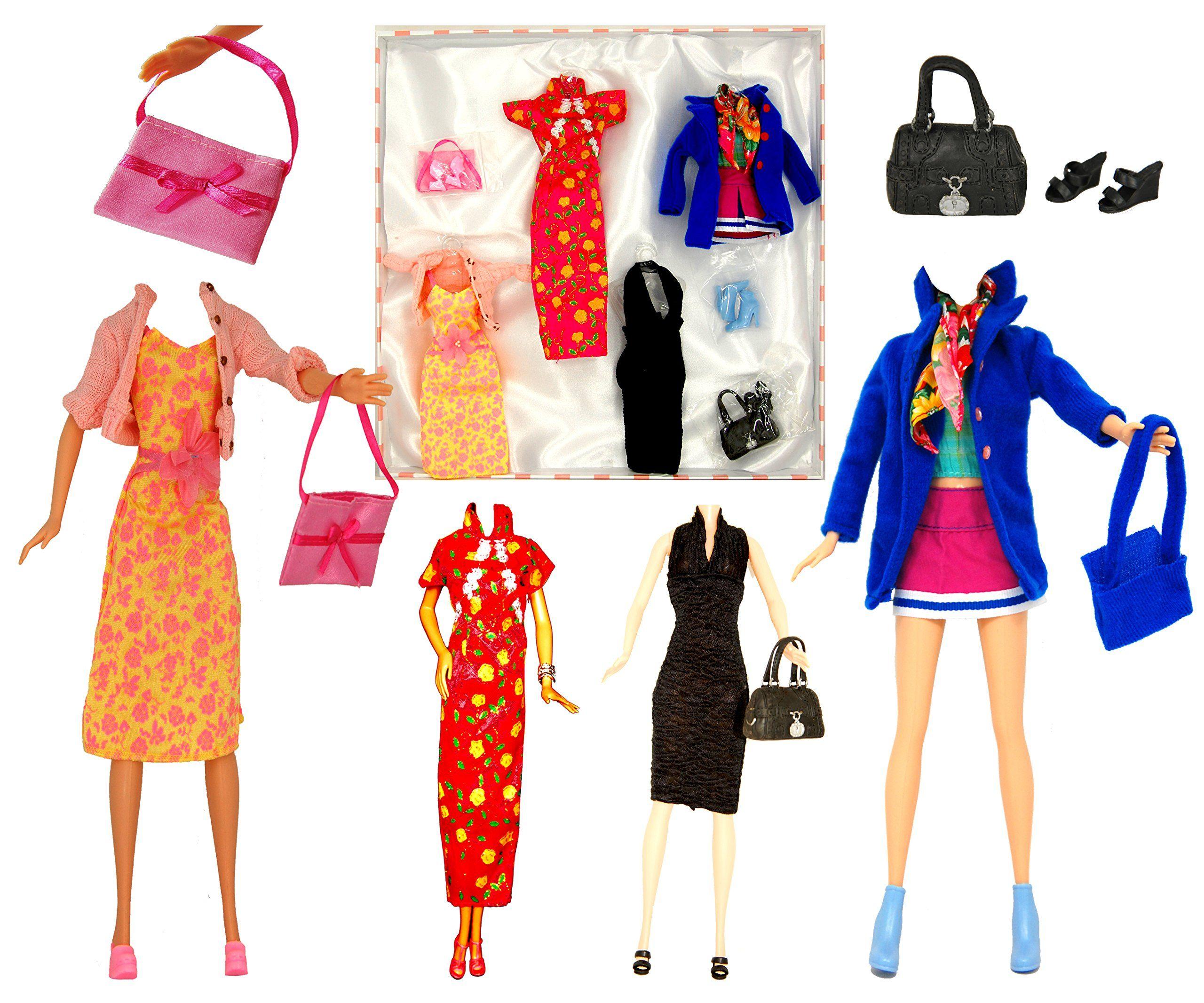lot de v tements garde robes pour poup e barbie disney. Black Bedroom Furniture Sets. Home Design Ideas