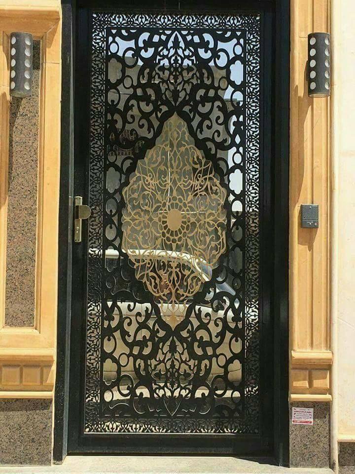 Door تنفيذ ابواب الحديد عادي زخرفه و ليزر الرياض 0530608113 Iron Door Design Door Gate Design Main Door Design