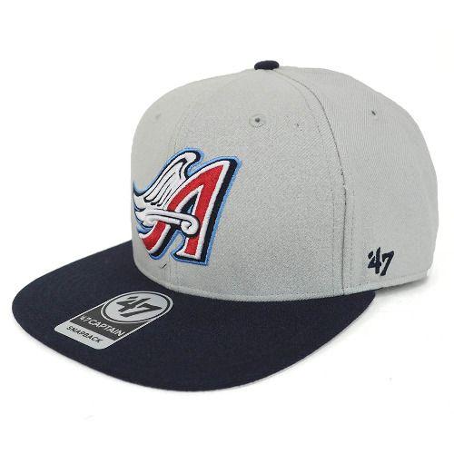 free shipping 89a9e 654a4 MLB エンゼルス アジャスタブル キャップ 帽子 シュアショット 47 Brand グレー - セレクション