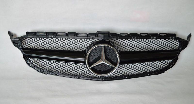 C Class W205 Sport Look 2 Fin Grille Black Benz C Sports