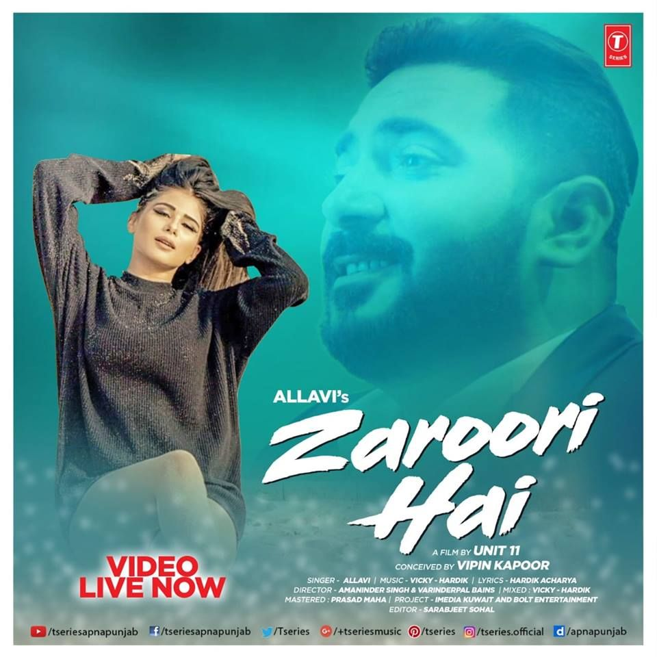 Zaroori Hai Allavi Mrpunjab Io Title Zaroori Hai Singer Allavi Lyrics Hardik Acharya Music Vicky Hardik Label Mp3 Song Download Mp3 Song Songs