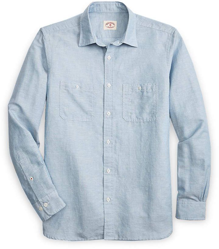 38144049 Brooks Brothers Men Chambray Shirt Casual Button Down Shirts, Denim Button  Up, Button Up