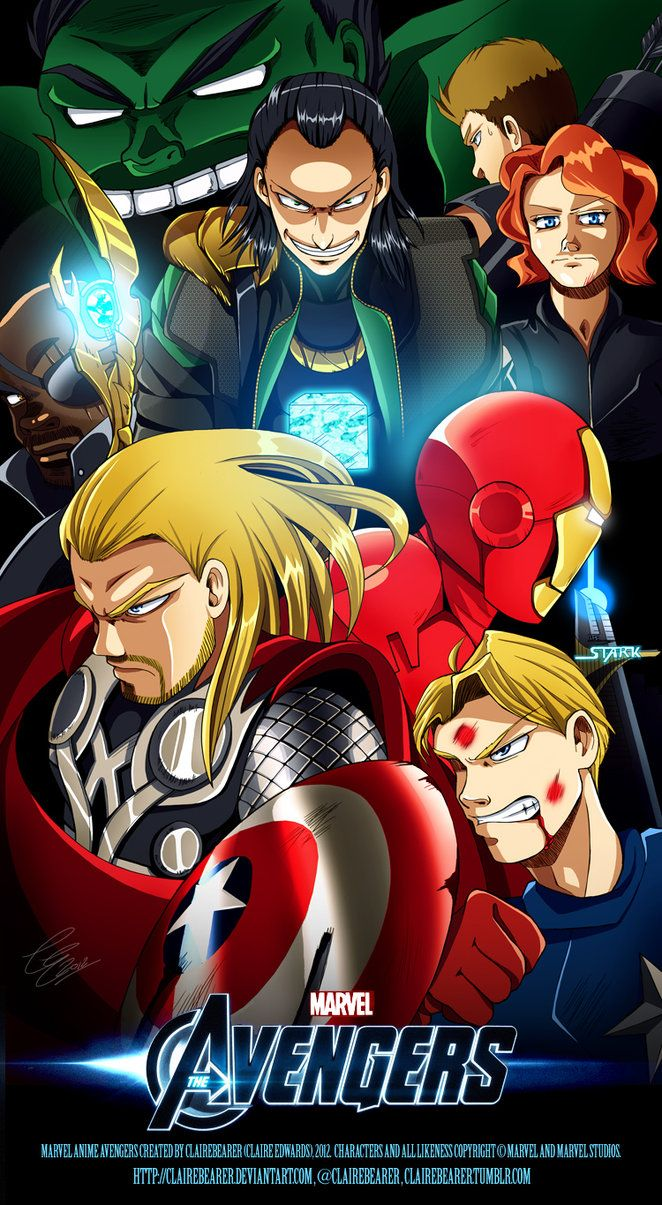 The Anime Avengers by clairebearer on deviantART
