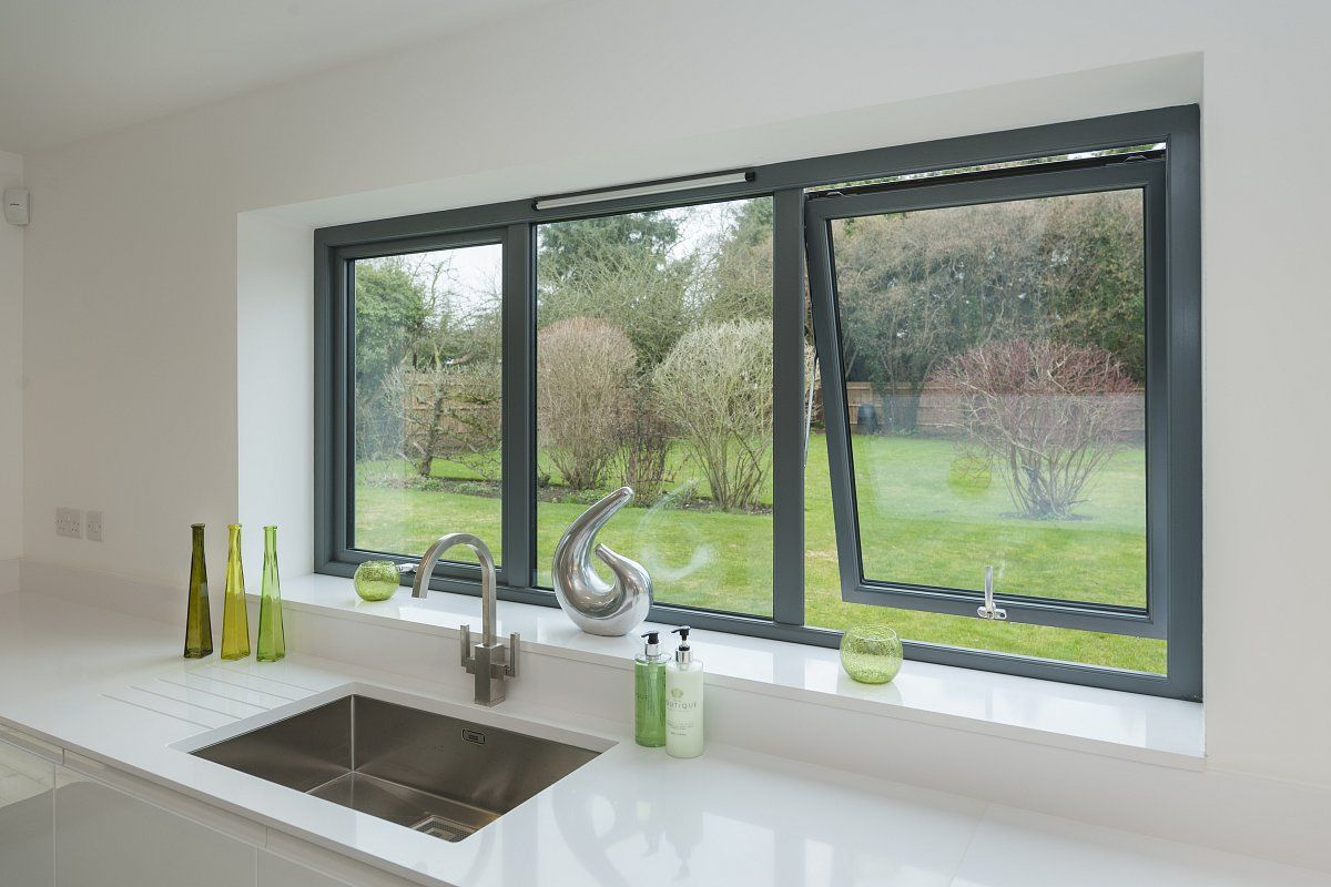 House design with sliding window  aluminium casement windows  micron in kent  windows  pinterest