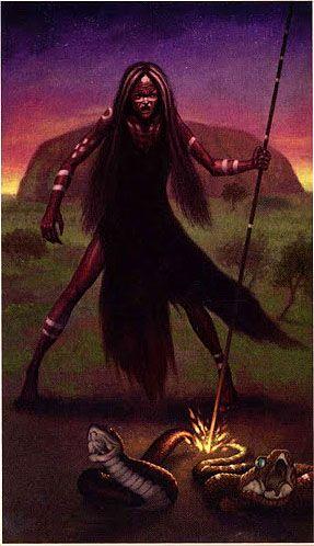 IX. The Hermit - Fire Tarot by Floreana Nativo, Franco Rivolli