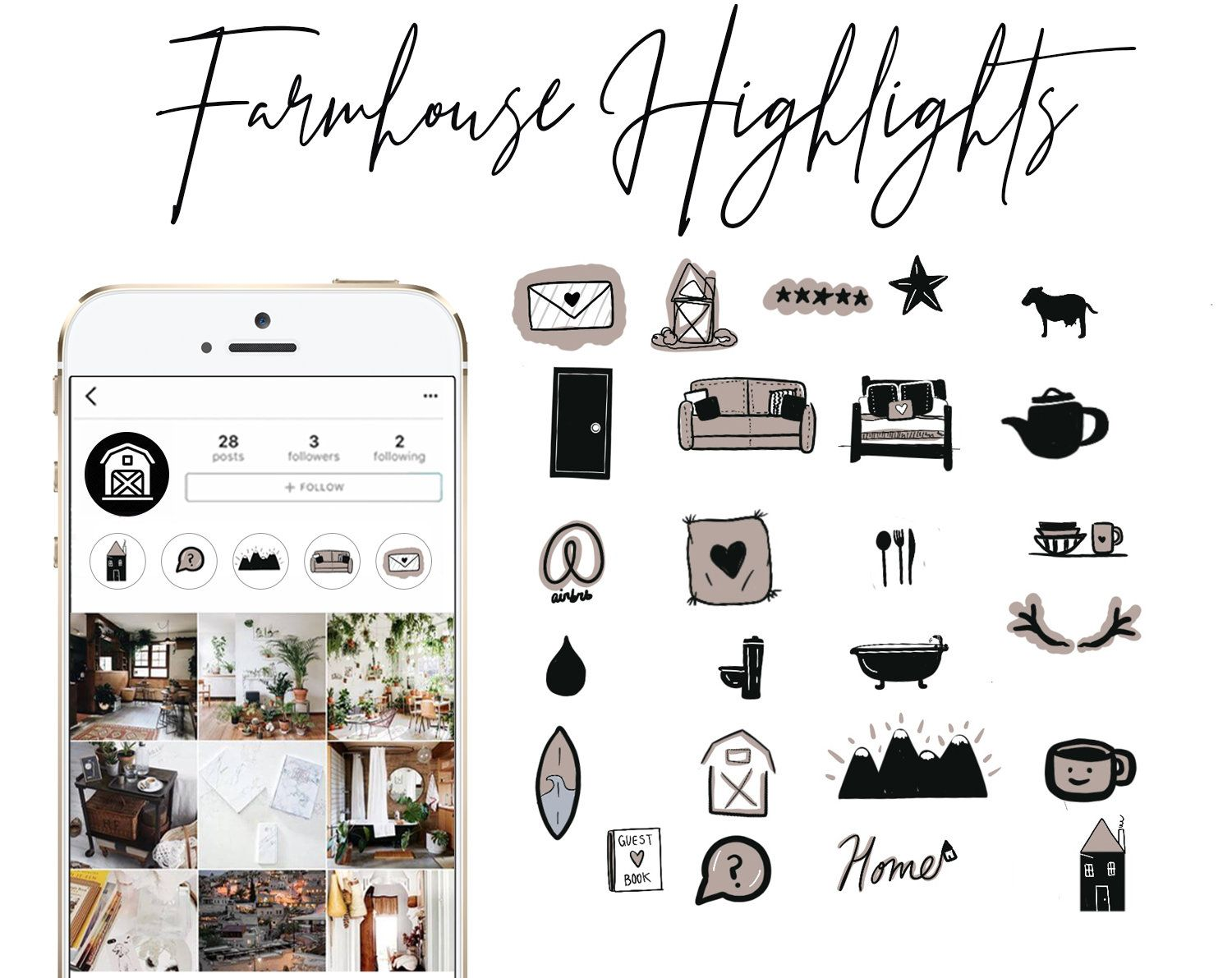 Home Instagram Story Highlight Icons Covers Interior Design